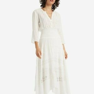 Desigual Broderie Anglaise Lace Smocked Dress L
